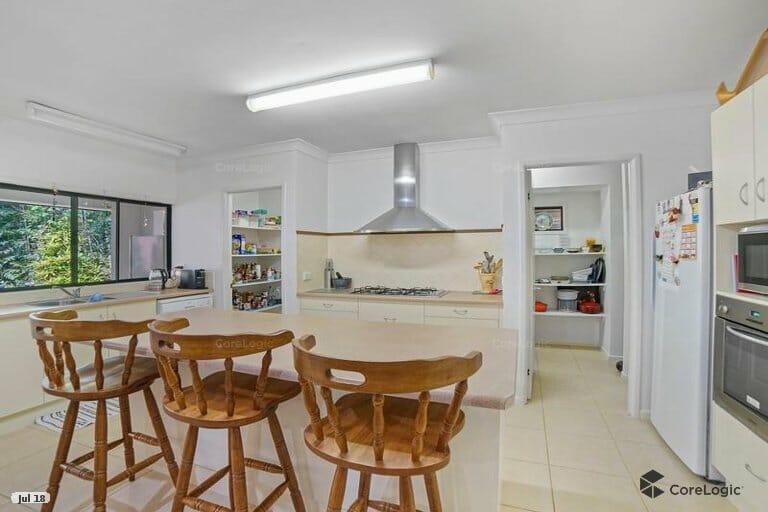 kitchen and huge walk through pantry